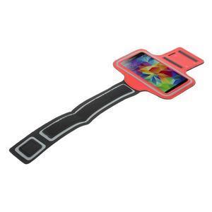 Fitsport pouzdro na ruku pro mobil do velikosti až 145 x 73 mm - červené - 5