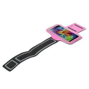 Fitsport pouzdro na ruku pro mobil do velikosti až 145 x 73 mm - rose - 5