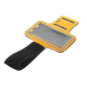 Fitsport pouzdro na ruku pro mobil do velikosti až 145 x 73 mm - oranžové - 5