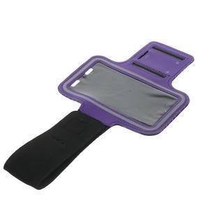 Fitsport pouzdro na ruku pro mobil do velikosti až 145 x 73 mm - fialové - 5