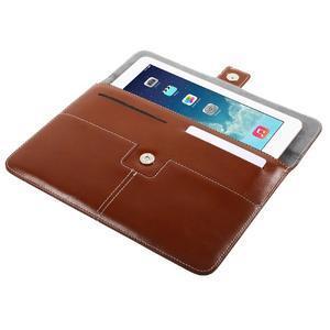 Business univerzální pouzdro na tablet do rozměru 226 x 149 mm - hnědé - 5