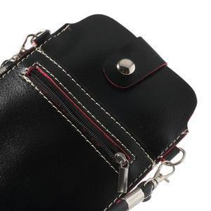Univerzální pouzdro/kapsička na mobil do rozměru 180 x 110 mm - černé - 5