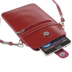 Univerzální pouzdro/kapsička na mobil do rozměru 180 x 110 mm - červené - 5
