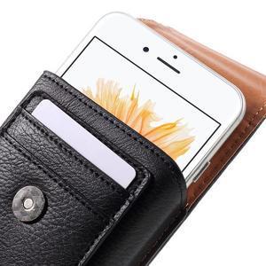 Pouzdro na opasek pro telefony do rozměru 160 x 84 x 18 mm - černé - 5