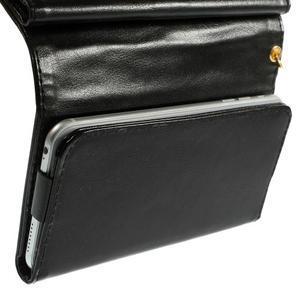 Univerzální PU kožené pouzdro na mobil do 160 x 80 mm - černé - 5