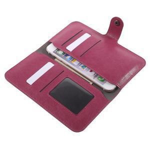 Peněženkové univerzální pouzdro na mobil do 140 x 68 x 10 mm - rose - 5