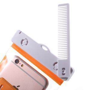 Nox7 vodotěsný obal na mobil do rozměru 16.5 x 9.5 cm - oranžový - 5