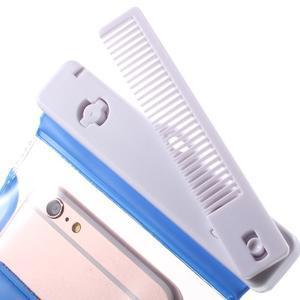 Nox7 vodotěsný obal na mobil do rozměru 16.5 x 9.5 cm - modrý - 5
