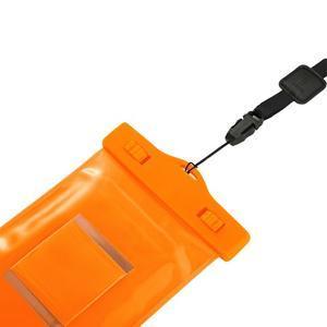 Base IPX8 vodotěsný obal na mobil do 158 x 78 mm - oranžový - 5