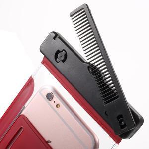 Nox7 vodotěsný obal na mobil do rozměru 16.5 x 9.5 cm - červený - 5