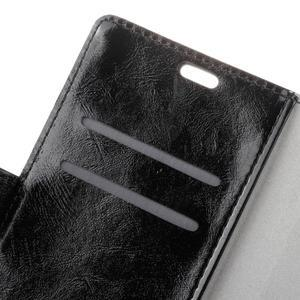 Horse PU kožené pouzdro na mobil Lenovo K5 Note - černé - 6