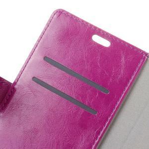 Horse PU kožené pouzdro na mobil Lenovo K5 Note - fialové - 6