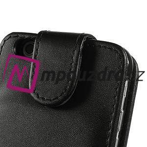 PU kožené flipové pouzdro na iPhone 6, 4.7 - černé - 6