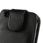PU kožené flipové pouzdro na iPhone 6, 4.7 - černé - 6/7