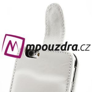PU kožené flipové pouzdro na iPhone 6, 4.7 - bílé - 6