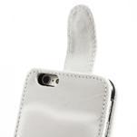 PU kožené flipové pouzdro na iPhone 6, 4.7 - bílé - 6/7