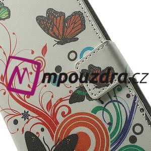 Peněženkové pouzdro na Samsung Galaxy Note 4- barevní motýlci - 6
