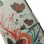Peněženkové pouzdro na Samsung Galaxy Note 4- barevní motýlci - 6/7