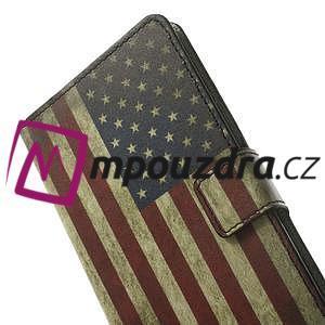Peněženkové pouzdro na Samsung Galaxy Note 4- USA vlajka - 6