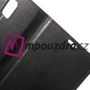 Peněženkové PU kožené pouzdro na Samsung Galaxy Note 4- černé - 6