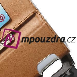 Peněženkové PU kožené pouzdro na Samsung Galaxy Note 4- bílé - 6