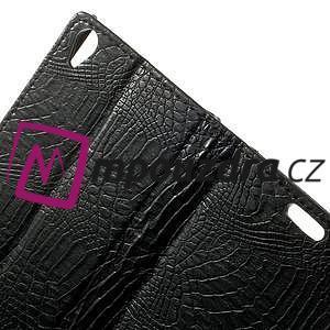 Peněženkové PU kožené pouzdro na Sony Xperia Z3 D6603 - černé - 6