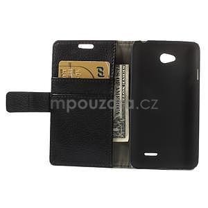 Peněženkové pouzdro na LG L65 D280 - černé - 6