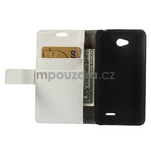 Peněženkové pouzdro na LG L65 D280 - bílé - 6