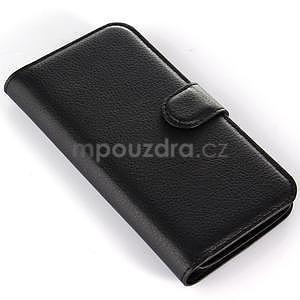Peněženkové pouzdro na Alcatel One Touch Idol Alpha 6032 A - černé - 6