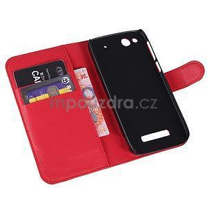 Peněženkové pouzdro na Alcatel One Touch Idol Alpha 6032 A - červené - 6