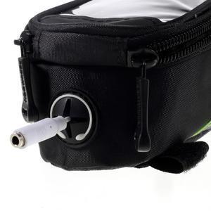 Prostorná brašnička na kolo na mobil do rozměru 124 x 59 x 7,6 mm - zelený lem - 6