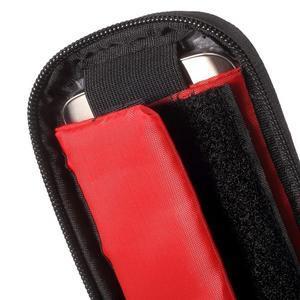 Brašna na kolo s úložným prostorem pro mobily do rozměru 138,3 x 67,1 × 7,1 mm - červená - 6