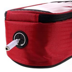 Prostorná brašna na kolo pro mobilní telefony do rozměru 158,1 x 78 x 7,1 mm - červená - 6