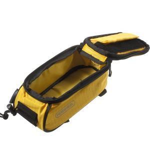 Brašna na kolo s úložným prostorem pro mobily do rozměru 138,3 x 67,1 × 7,1 mm - žlutá - 6