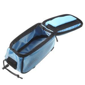 Brašna na kolo s úložným prostorem pro mobily do rozměru 138,3 x 67,1 × 7,1 mm - modrá - 6