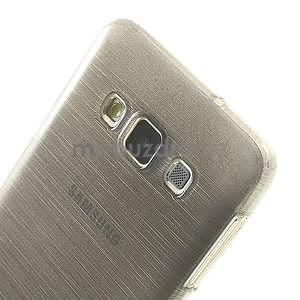 Broušené pouzdro na Samsung Galaxy A3 - šedá - 6