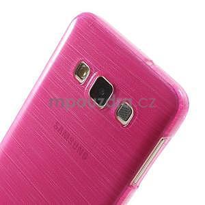Broušené pouzdro na Samsung Galaxy A3 - rose - 6