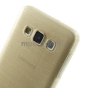 Broušené pouzdro na Samsung Galaxy A3 - zlatá - 6