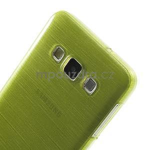 Broušené pouzdro na Samsung Galaxy A3 - zelená - 6