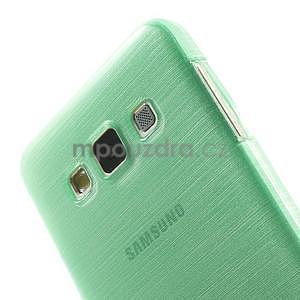Broušené pouzdro na Samsung Galaxy A3 - světle zelená - 6