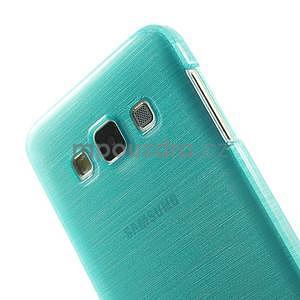 Broušené pouzdro na Samsung Galaxy A3 - tyrkysová - 6