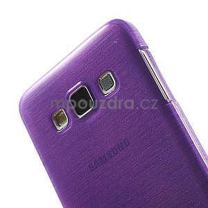 Broušené pouzdro na Samsung Galaxy A3 - fialová - 6