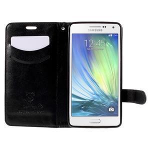Kočička Domi PU kožené pouzdro na Samsung Galaxy A5 - černé - 6
