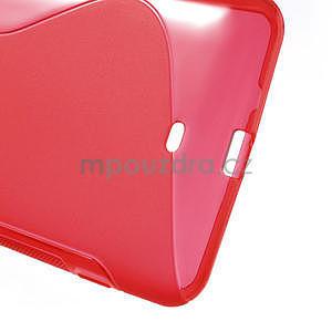 Gelové S-line pouzdro pro Nokia Lumia 1320- červené - 6