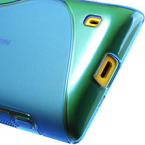 Gelové S-line pouzdro na Nokia Lumia 520- modré - 6