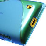 Gelové S-line pouzdro na Nokia Lumia 520- modré - 6/6