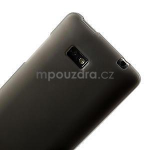 Gelové matné pouzdro pro HTC Desire 600- šedé - 6