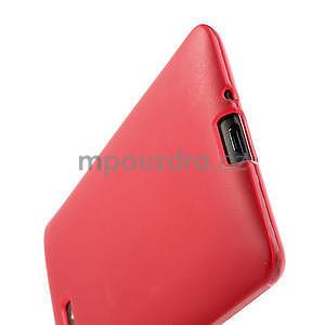 Gelové matné pouzdro pro HTC Desire 600- červené - 6