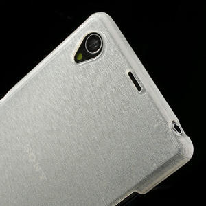 Kartáčované pouzdro na Sony Xperia Z1 C6903 L39- bílé - 6