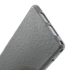 Kartáčované pouzdro na Sony Xperia Z1 C6903 L39- šedé - 6